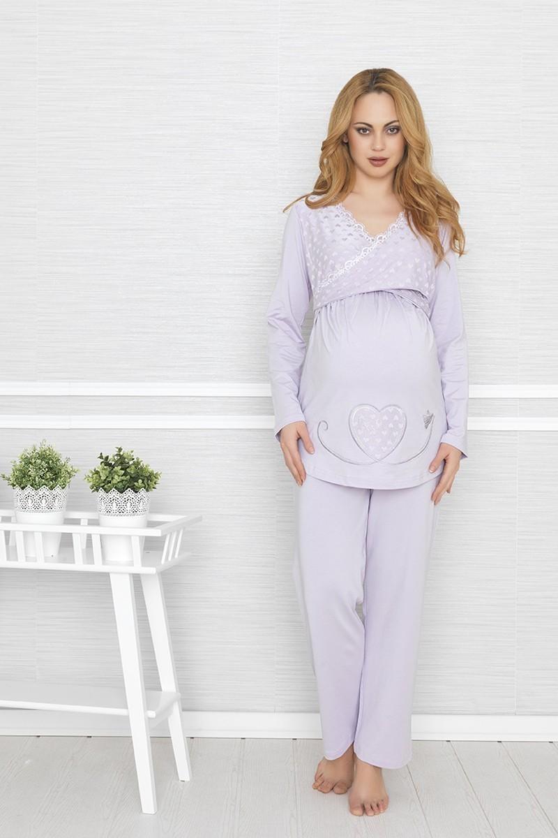 Baha Lila BH-2410-LILA Lohusa Pijama Takımı