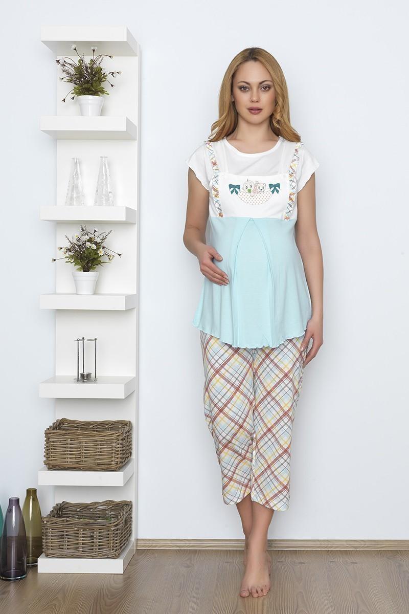 Baha Mavi BH-2500-MAVI Lohusa Pijama Takımı