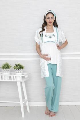Baha Mint BH-2505-MINT Lohusa Pijama Takımı
