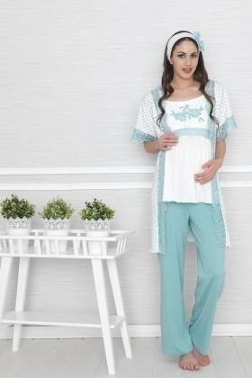 Baha Mint BH-2506-MINT Lohusa Pijama Takımı
