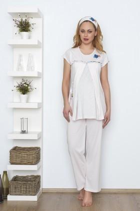 Baha Pembe BH-2521-PEMBE Lohusa Pijama Takımı