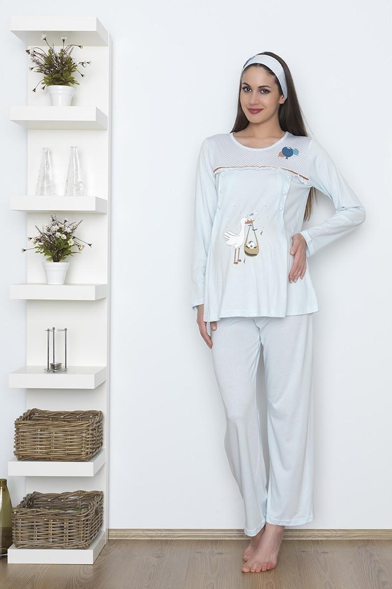 Baha Mavi BH-2523-MAVI Lohusa Pijama Takımı