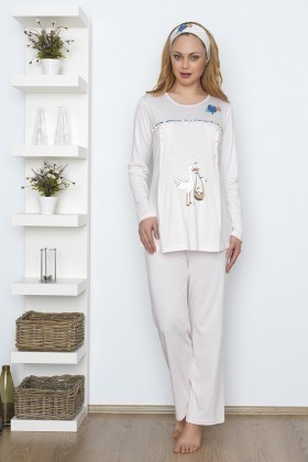 Baha Pembe BH-2523-PEMBE Lohusa Pijama Takımı