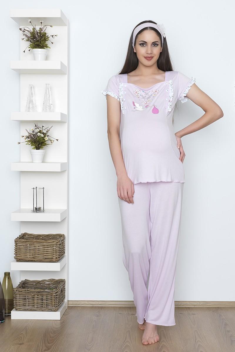 Baha Pembe BH-2526-PEMBE Lohusa Pijama Takımı