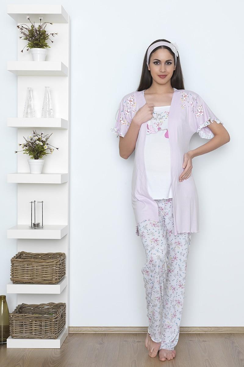 Baha Pembe BH-2527-PEMBE Lohusa Pijama Takımı