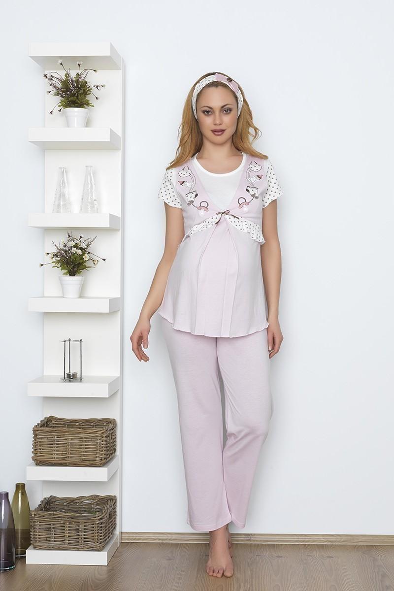 Baha Pembe BH-2531-PEMBE Lohusa Pijama Takımı