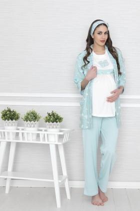 Baha Mavi BH-2543-MAVI Lohusa Pijama Takımı