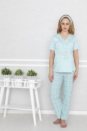 Baha Mavi BH-2545-MAVI Lohusa Pijama Takımı