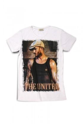 United Beyaz UE-006 Unisex Tişört