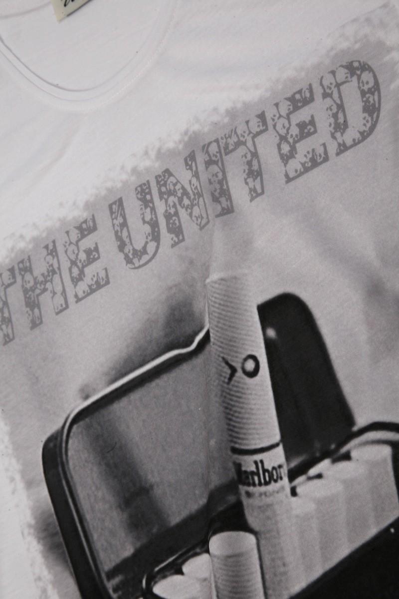 United Beyaz UE-SIGARA Unisex Tişört