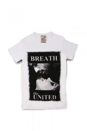 United Beyaz UE-012 Unisex Tişört