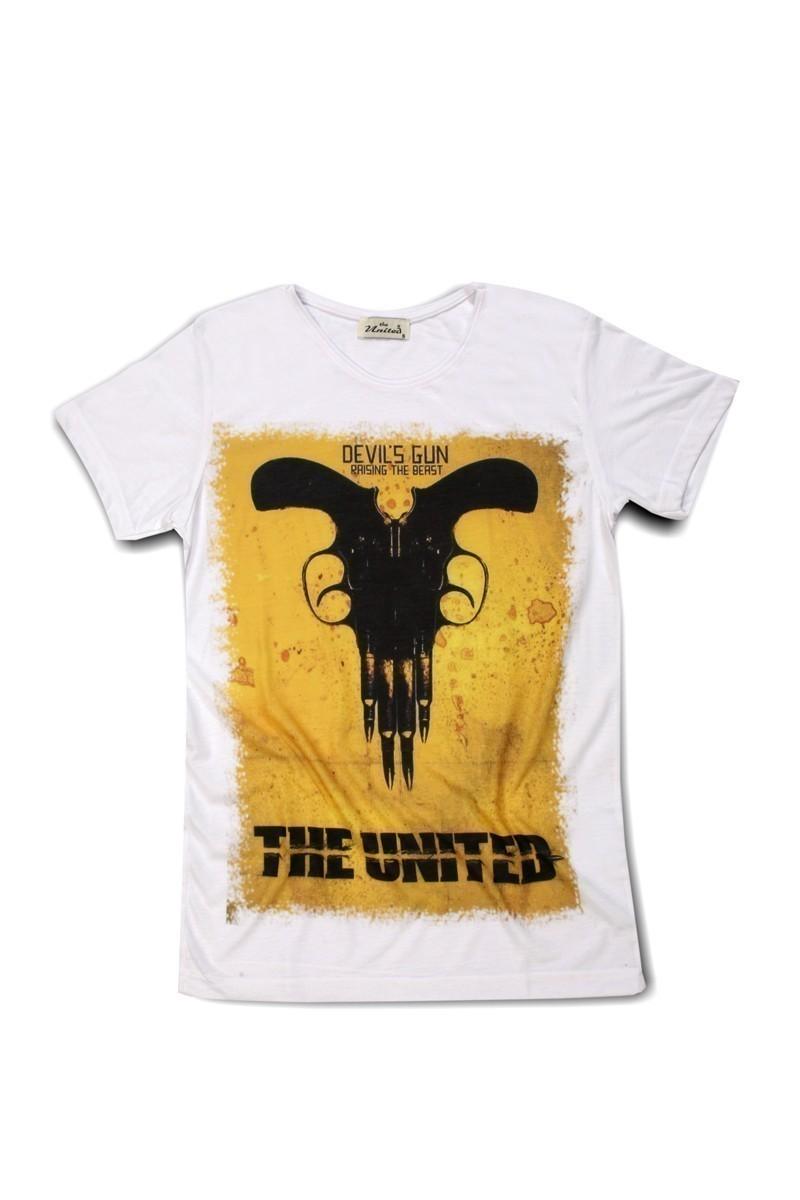 United Beyaz UE-Silah Unisex Tişört