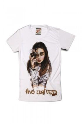 United Beyaz UEK-016 Unisex Tişört