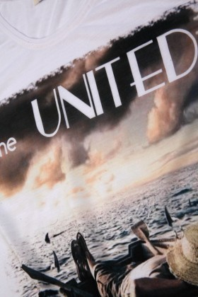 United Beyaz UE-KAYIK Unisex Tişört