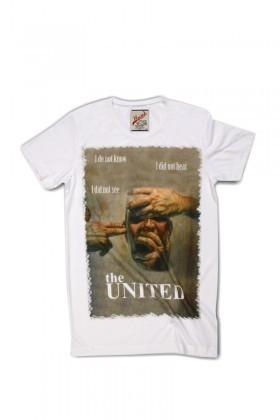 United Beyaz UE-025 Unisex Tişört