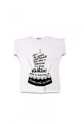 Rodi Beyaz RDB-002 Bayan Tişört