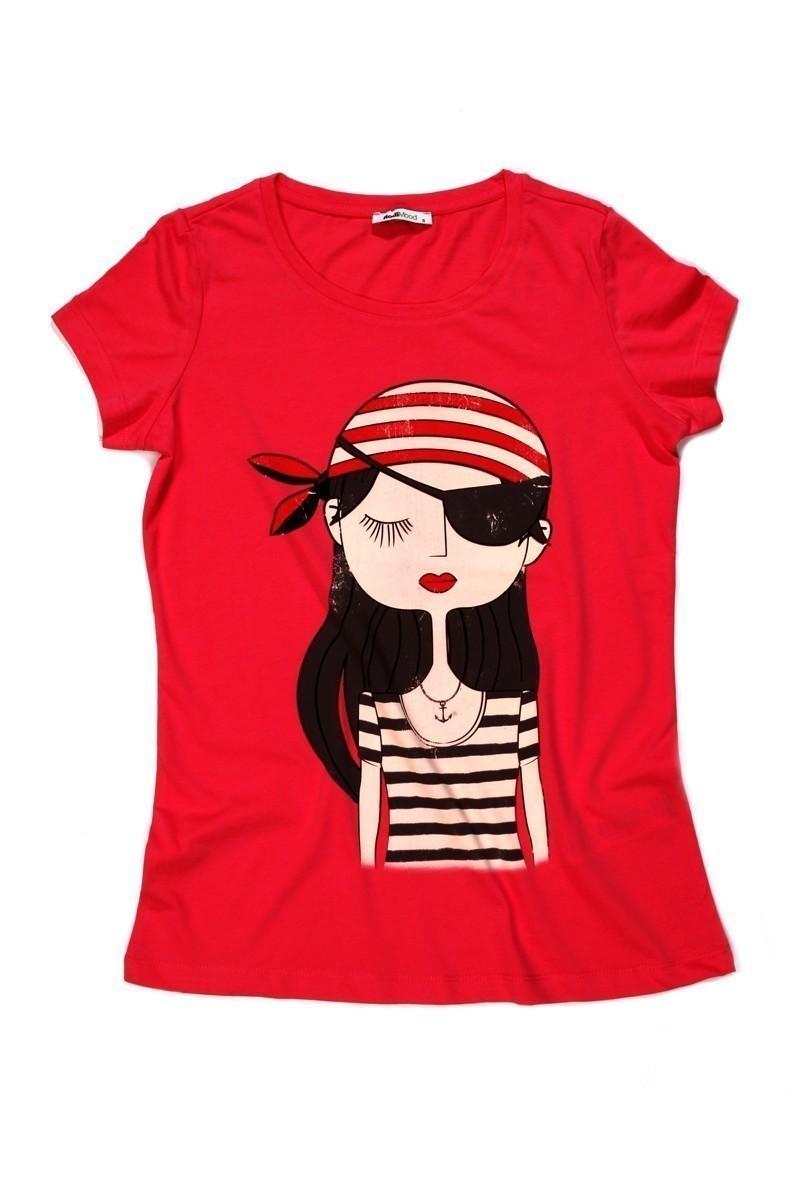 Rodi Kırmızı RDB-004 Bayan Tişört