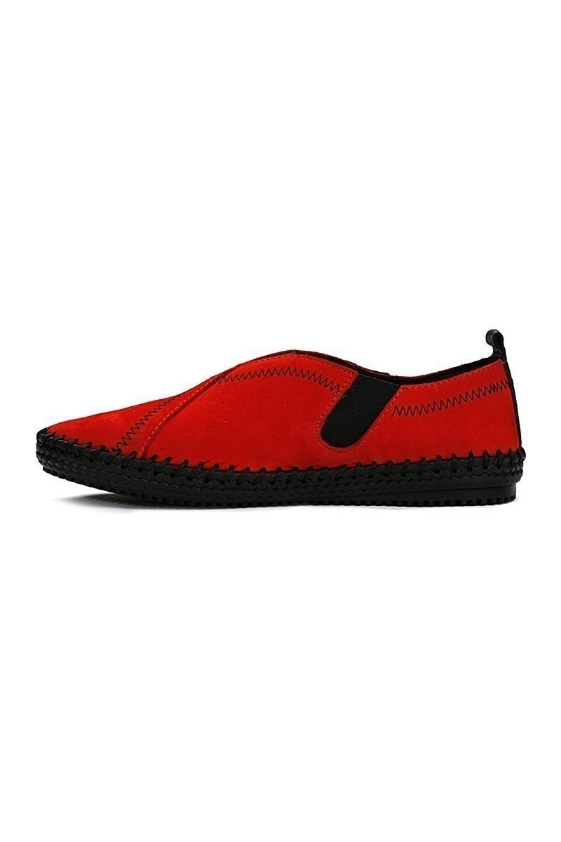 Pandew Kırmızı-Siyah PNDW-1009 Hakiki Deri Erkek Çarık