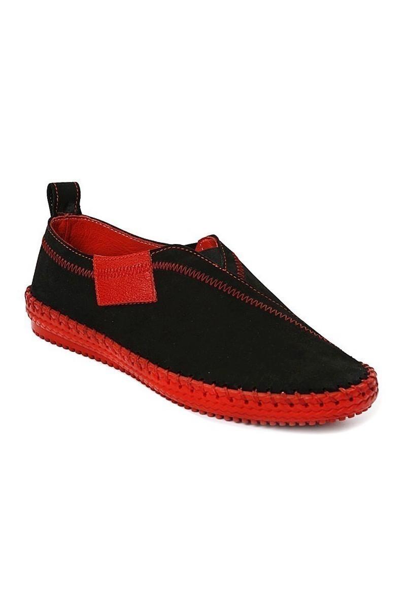 Pandew Siyah-Kırmızı PNDW-1009 Hakiki Deri Erkek Çarık