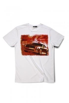 Rodi Beyaz RDE-012 Erkek Tişört