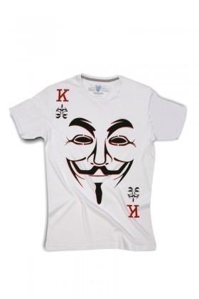 Blue Bunny Beyaz BBNYE-Maske Erkek Tişört