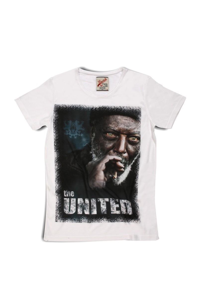 United Beyaz UE-DEDE Unisex Tişört