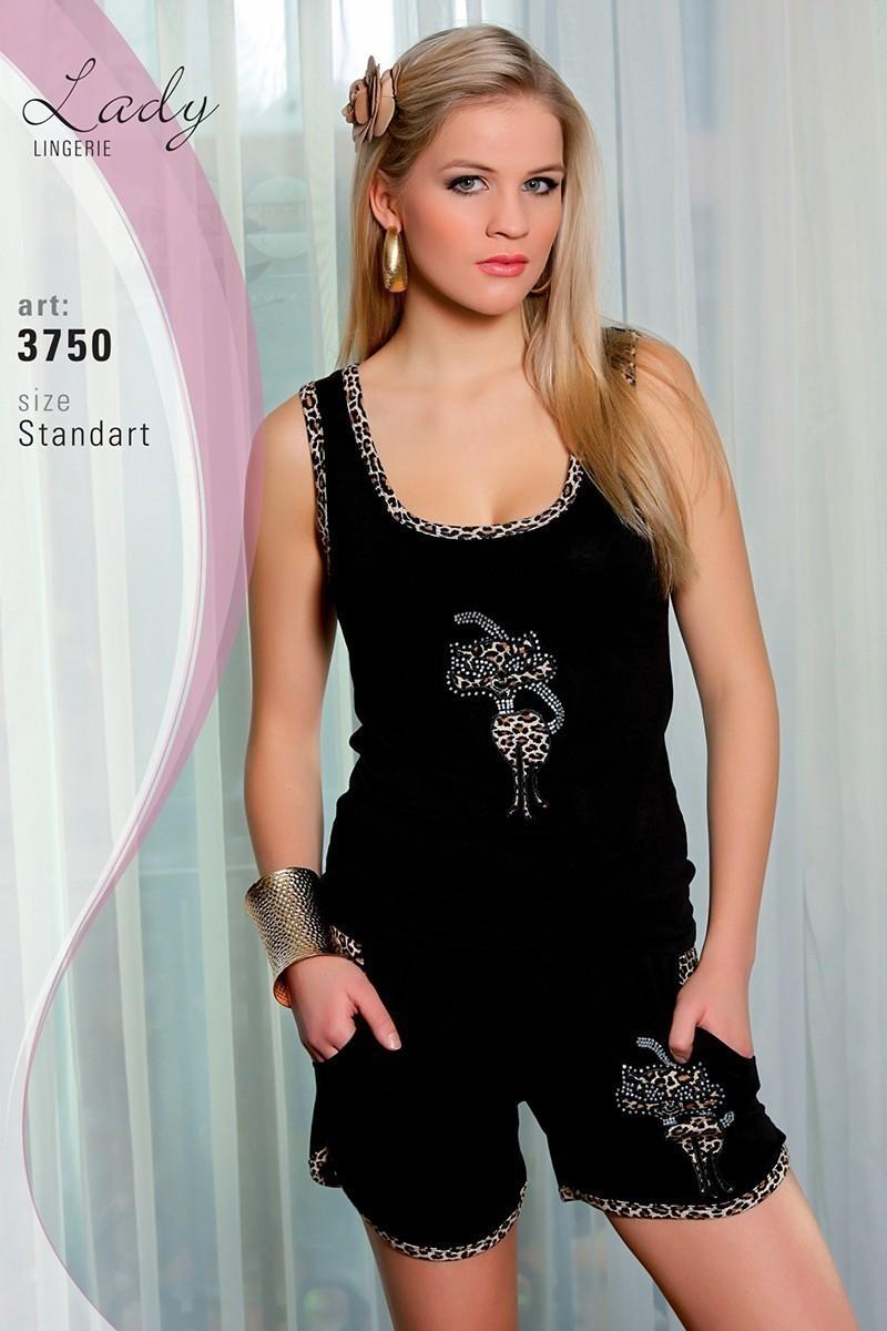 Lady Lingerie Siyah LL-3750 Bayan Pijama