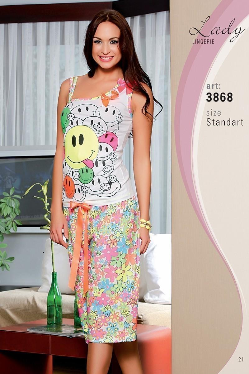 Lady Lingerie Beyaz LL-3868 Bayan Pijama