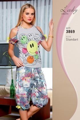 Lady Lingerie Gri LL-3869 Bayan Pijama
