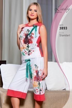 Lady Lingerie Beyaz LL-3893 Bayan Pijama