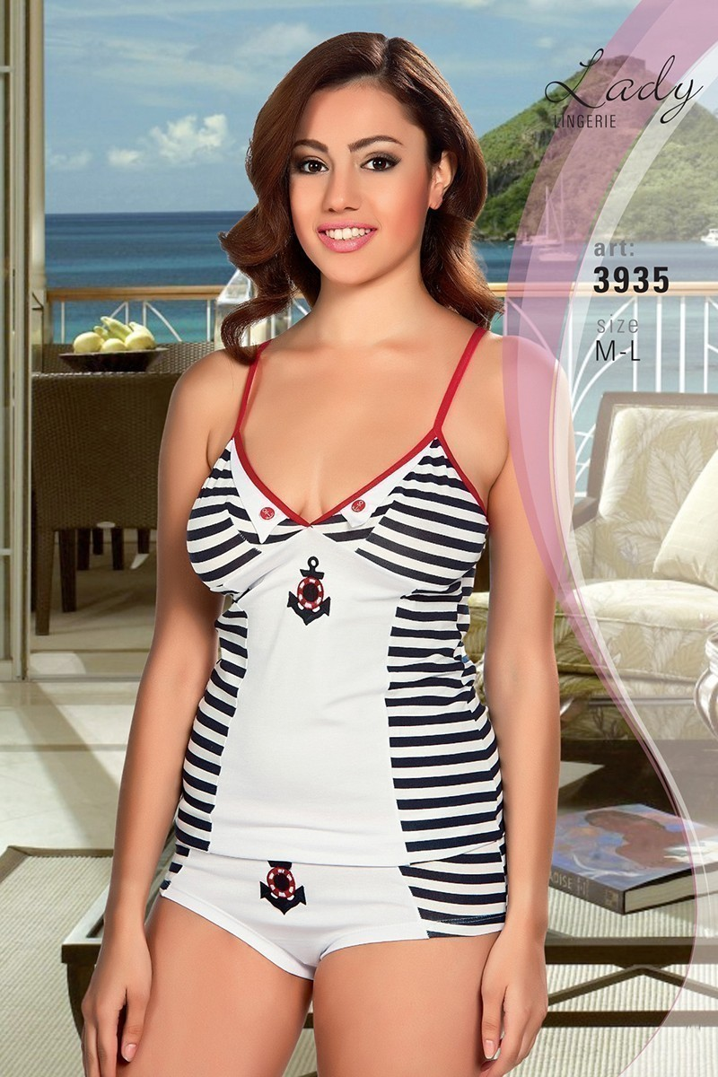 Lady Lingerie Beyaz LL-3935 Bayan Gecelik
