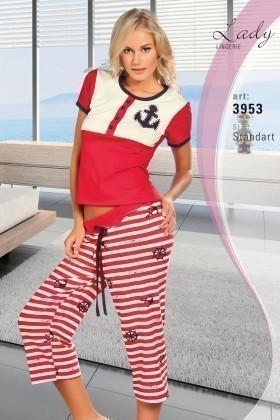 Lady Lingerie Kırmızı LL-3953 Bayan Pijama