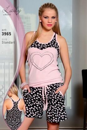 Lady Lingerie Pembe LL-3965 Bayan Pijama