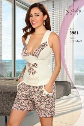 Lady Lingerie Ekru LL-3981 Bayan Pijama