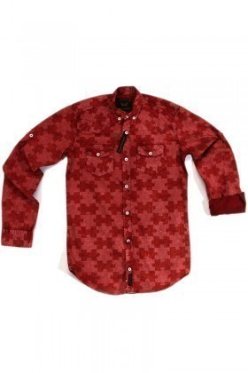 Marrakech Kırmızı MR-005 Erkek Gömlek Slimfit
