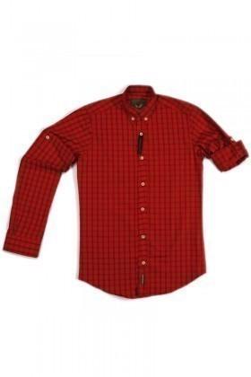 Marrakech Kırmızı MR-KIRMIZI-LACI Erkek Gömlek Slimfit
