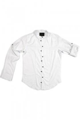 Marrakech Beyaz MR-Byz-Hakim Erkek Gömlek Slimfit
