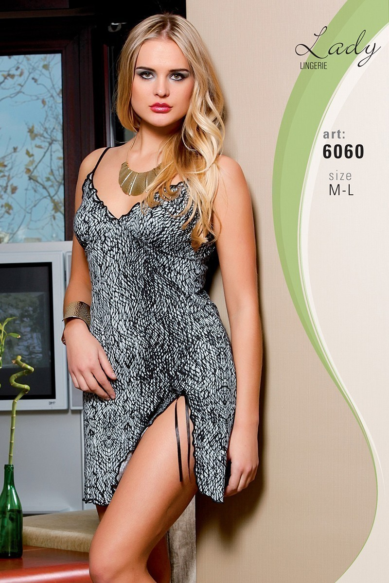 Lady Lingerie Leopar LL-6060 Bayan Gecelik