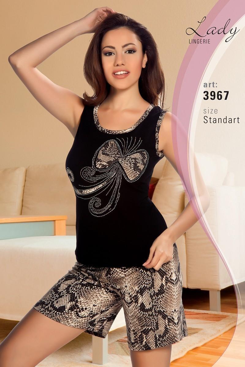 Lady Lingerie Siyah LL-3967 Bayan Pijama