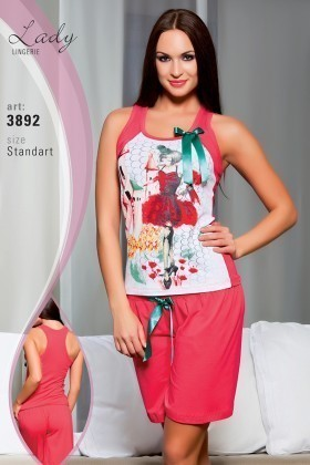Lady Lingerie Pembe LL-3892 Bayan Pijama