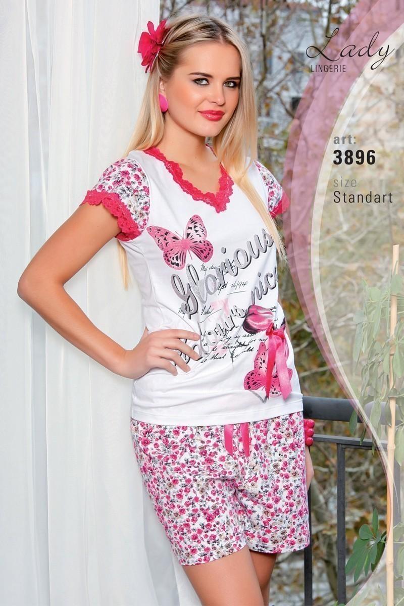 Lady Lingerie Pembe LL-3896 Bayan Pijama