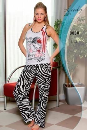 Lady Lingerie Gri LL-9090 Bayan Pijama