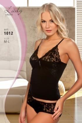 Lady Lingerie Siyah LL-1012 Bayan Gecelik