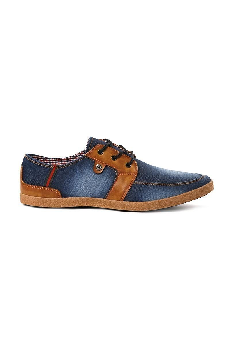 LA POLO Mavi-Taba LPL-003 Erkek Ayakkabı