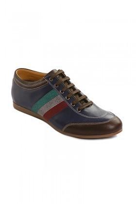 Pandew Lacivert-Kahve PNDW-1053 Hakiki Deri Erkek Ayakkabı