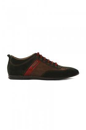 Pandew Yeşil-Kahverengi PNDW-8101 Hakiki Deri Erkek Ayakkabı