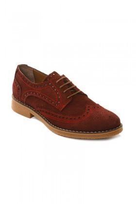 Pandew Bordo PNDW-3007 Hakiki Deri Erkek Ayakkabı