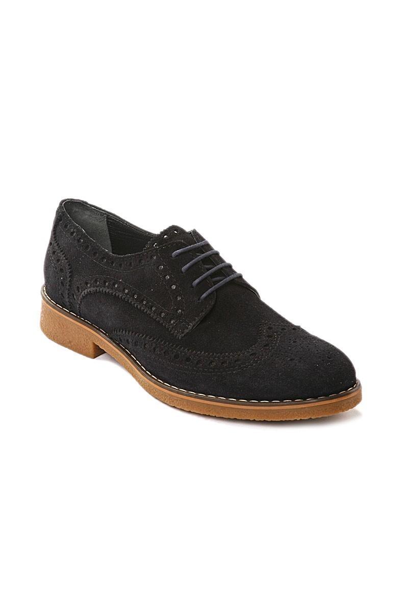 Pandew Lacivert PNDW-3007 Hakiki Deri Erkek Ayakkabı
