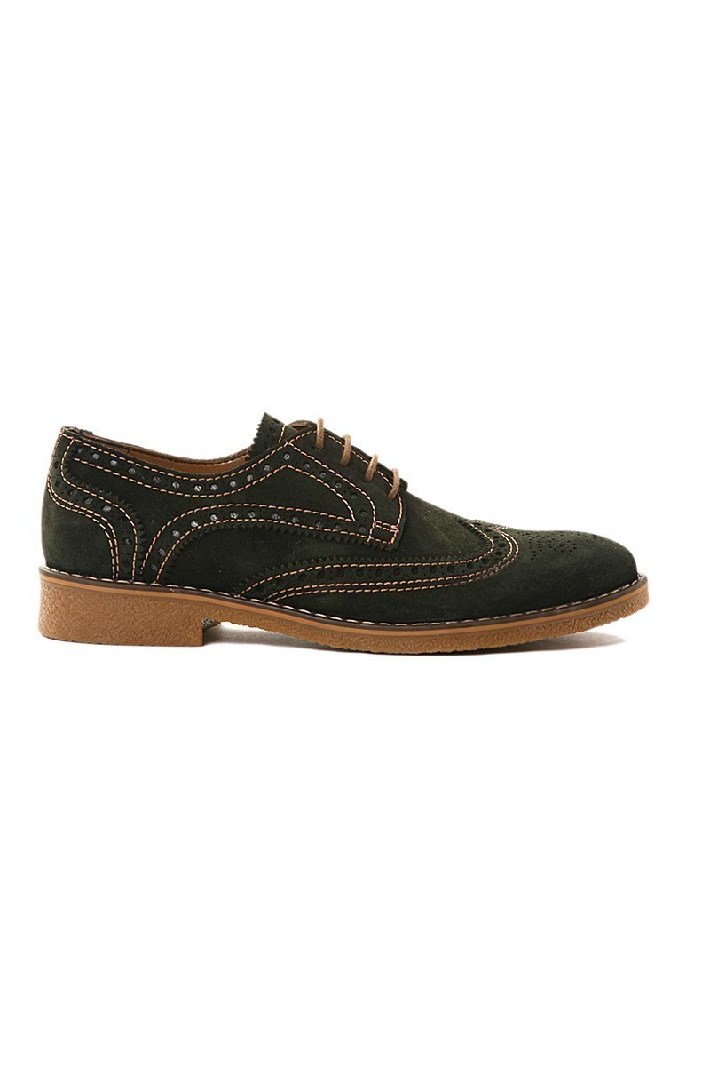 Pandew Yeşil PNDW-3007 Hakiki Deri Erkek Ayakkabı