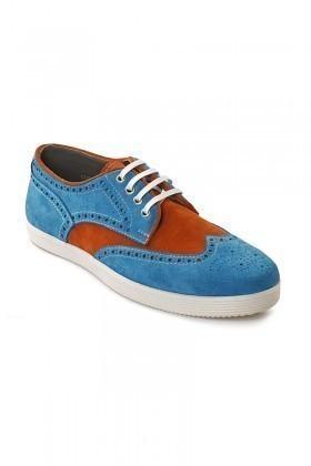 Lotex Turkuaz-Taba-Beyaz LTX-037 Hakiki Deri Erkek Ayakkabı
